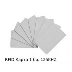 Рфид картa, RFDI картa за достъп 125 kHz